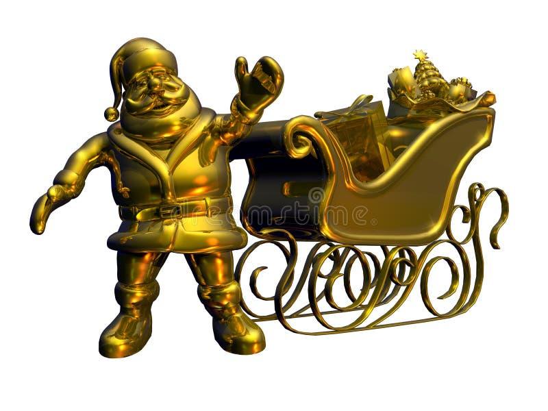Festes Gold Sankt - mit Ausschnittspfad vektor abbildung