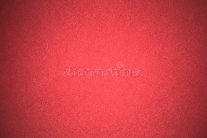Festes rotes Hintergrundpapier mit Weinleseschmutz-Beschaffenheitsdesign stockfotografie