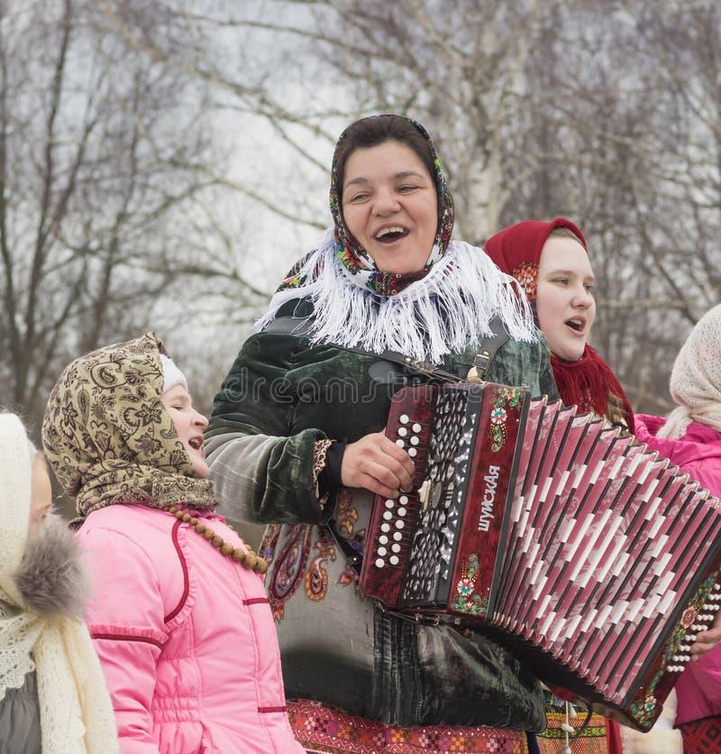 Festin d'hiver en Russie photos libres de droits