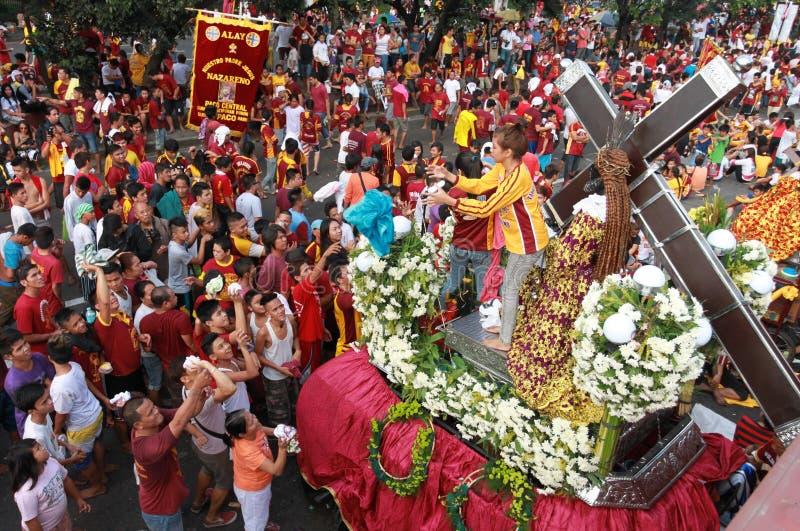 Festin de Nazareno noir, Philippines photos libres de droits