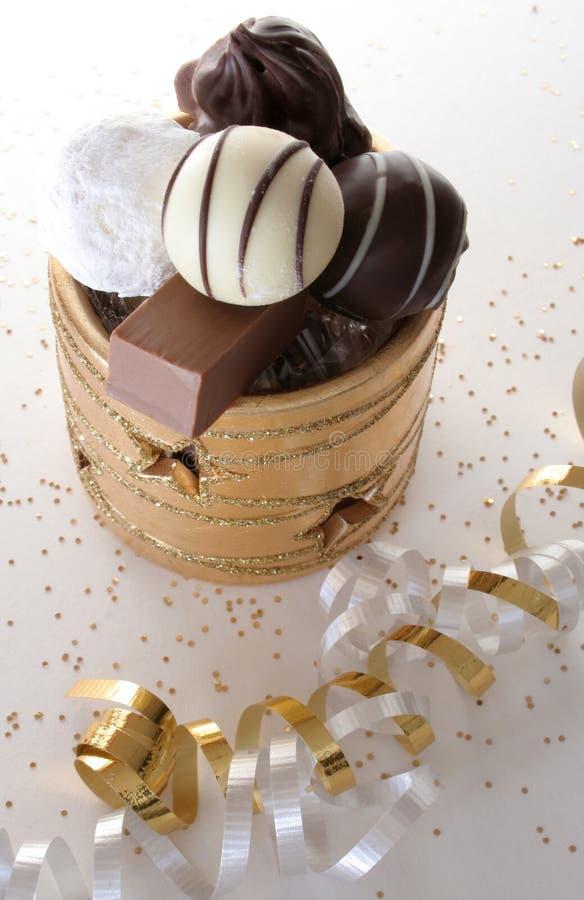 Festin de Noël de chocolat photo libre de droits