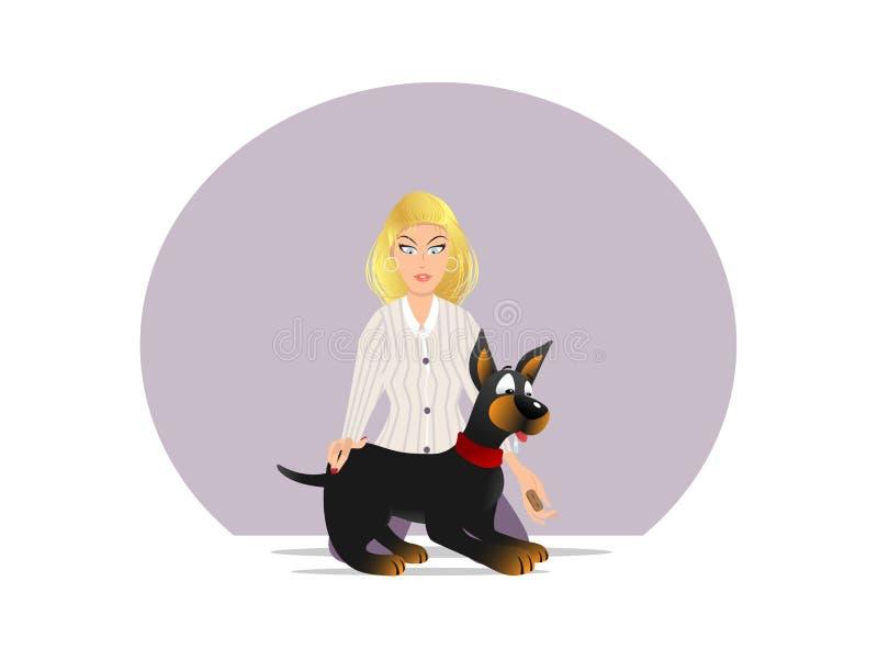 Festin 3 de propriétaire de chien illustration stock
