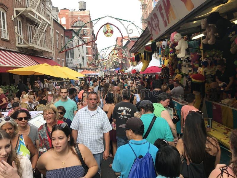 Festin de San Gennaro chez la peu d'Italie à New York City photos stock