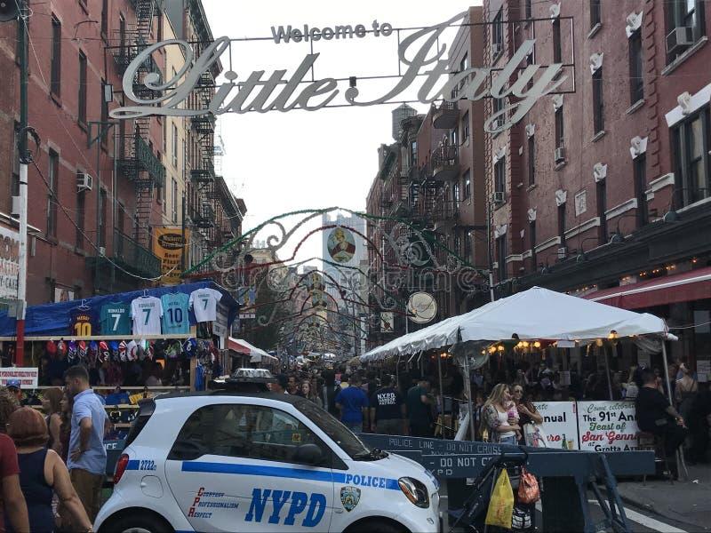 Festin de San Gennaro chez la peu d'Italie à New York City photo stock