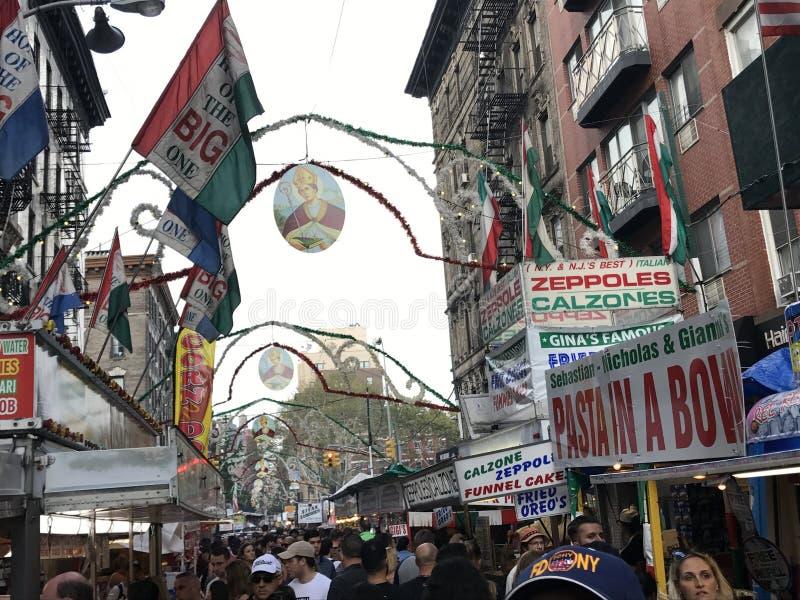 Festin de San Gennaro chez la peu d'Italie à New York City images libres de droits