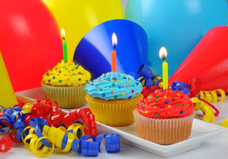 Festins d'anniversaire image libre de droits