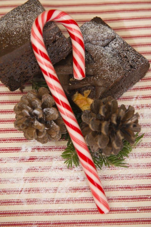 Festins de 'brownie' de Noël images libres de droits