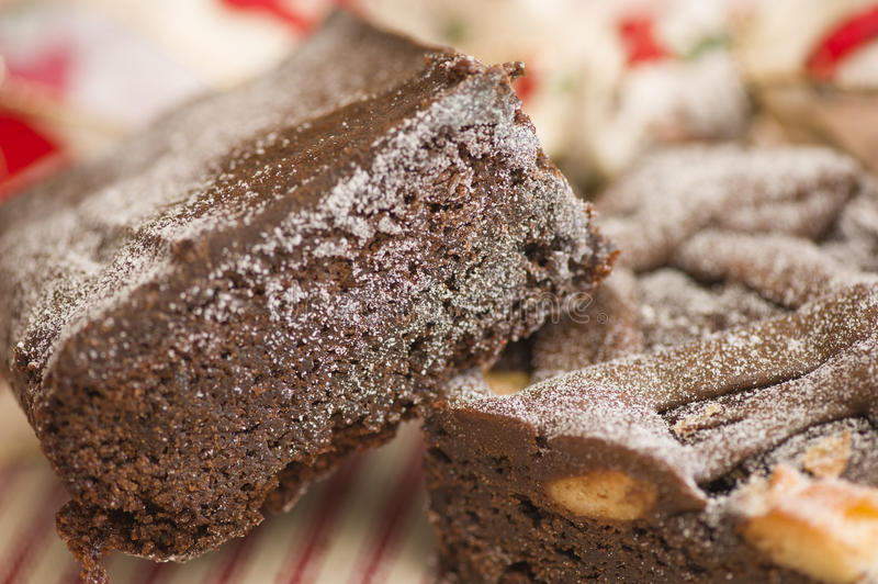 Festins de 'brownie' de Noël photographie stock libre de droits