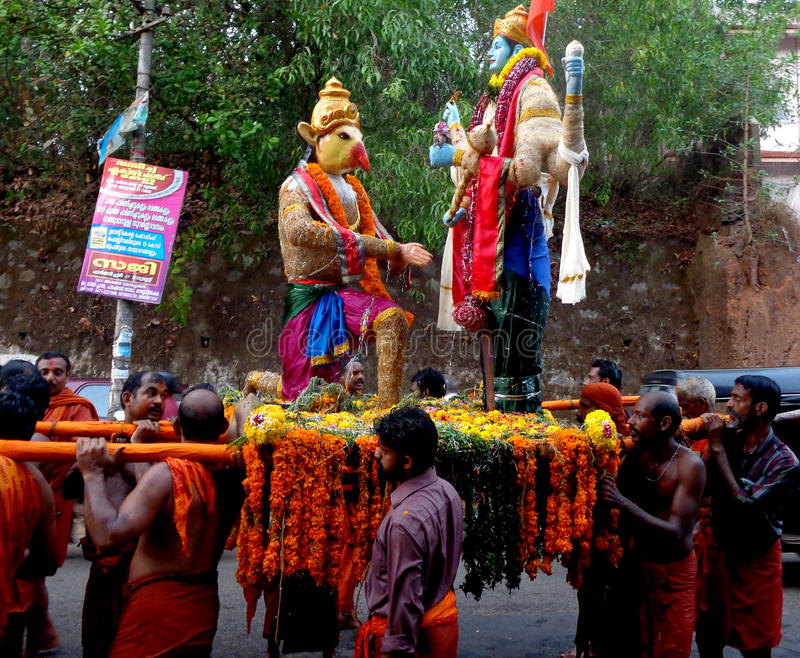 Festivais do templo de Kerala fotos de stock
