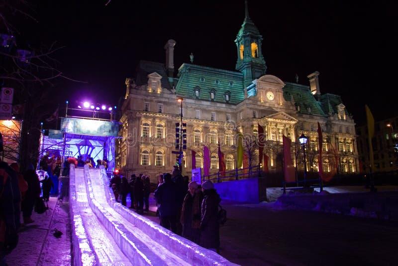 Festival élevé de lumières de Montréal photographie stock libre de droits