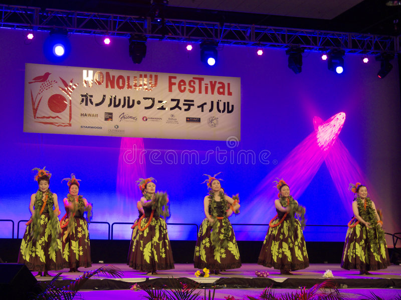 Festival 10 de Honolulu imagem de stock