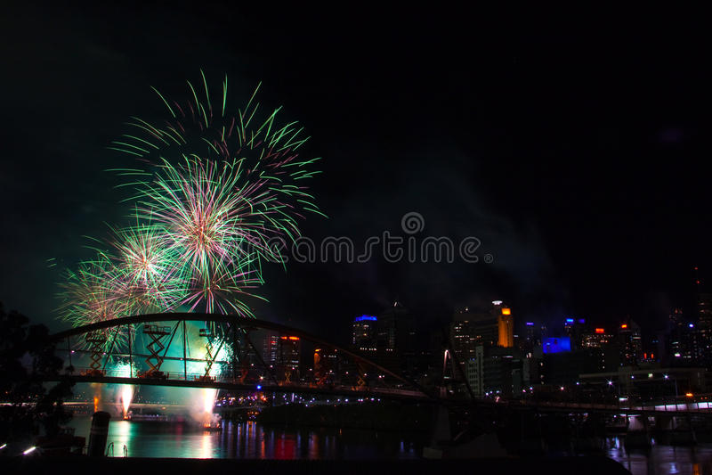Festival 2009 de Brisbane Riverfire foto de stock royalty free