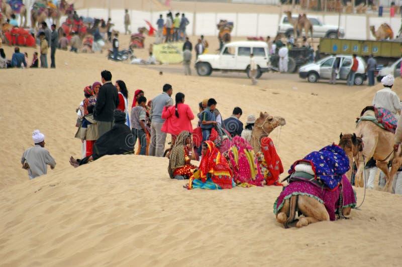 Festival 2009, Jaisalmer, Rajasthán del desierto. fotografía de archivo libre de regalías