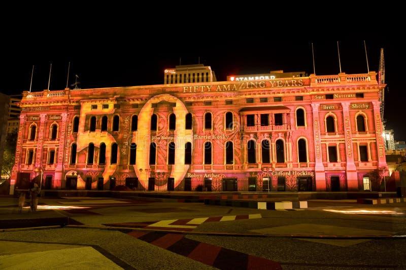 Festival 2010 das luzes do norte de Adelaide imagens de stock
