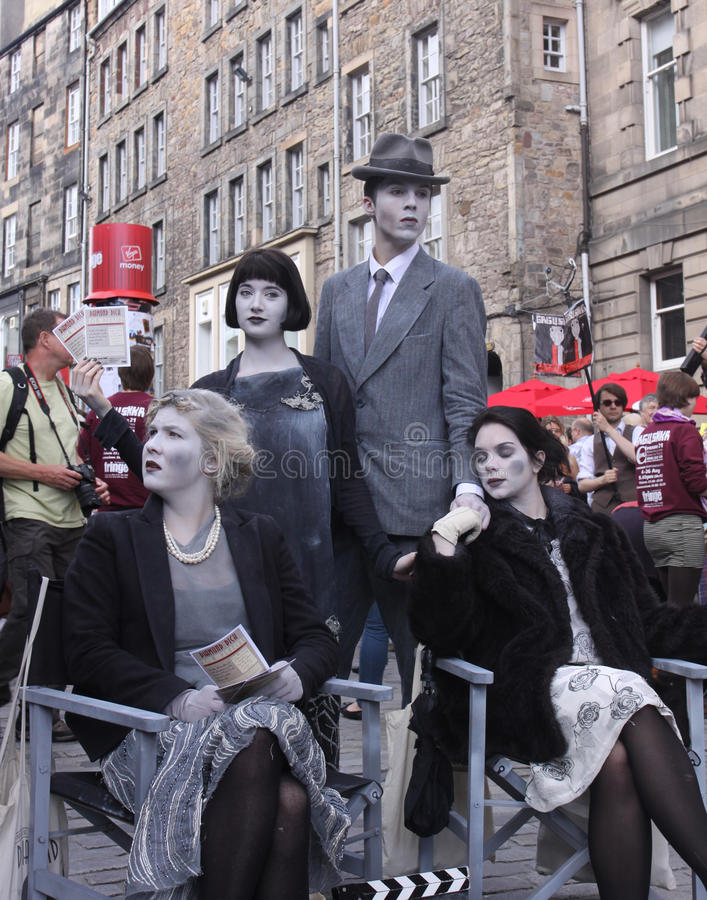 Festival 2011 de la franja de Edimburgo foto de archivo