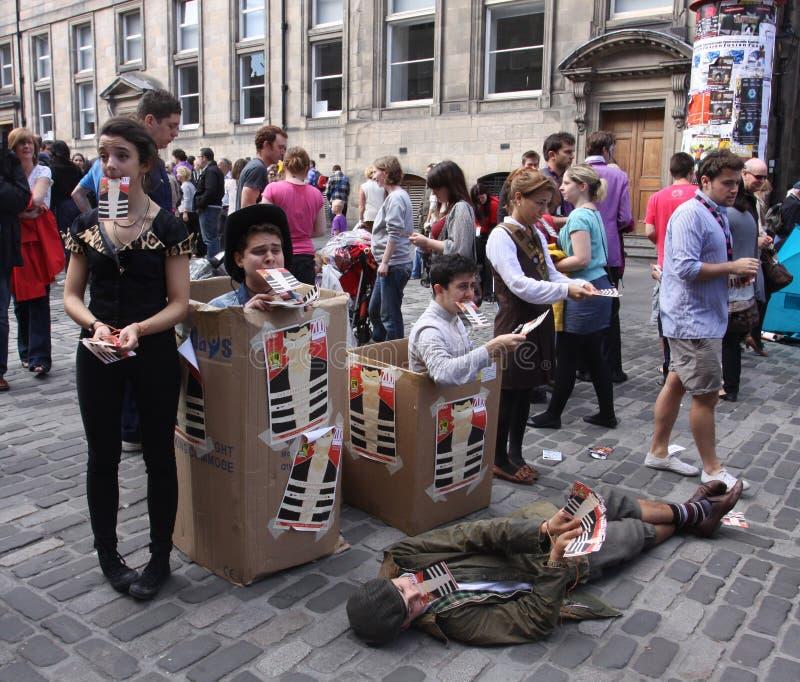 Festival 2011 de la franja de Edimburgo imágenes de archivo libres de regalías