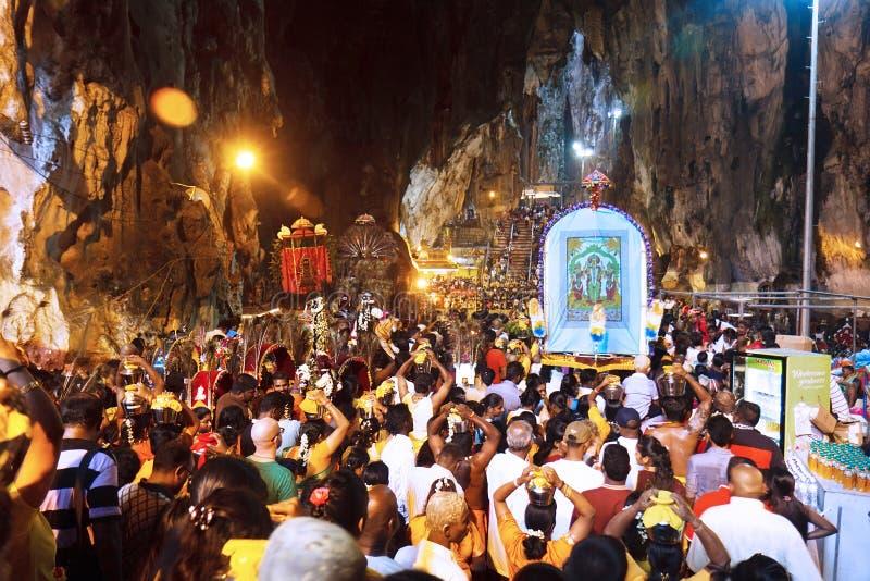 Festival 2012 de Thaipusam: En las cuevas de Batu