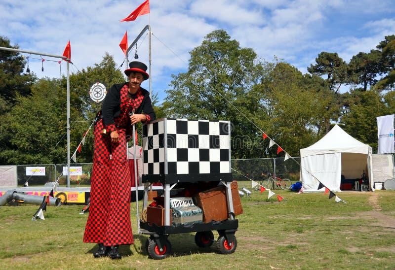 Festival 2012 dos Buskers do mundo - sopro mestre imagem de stock royalty free
