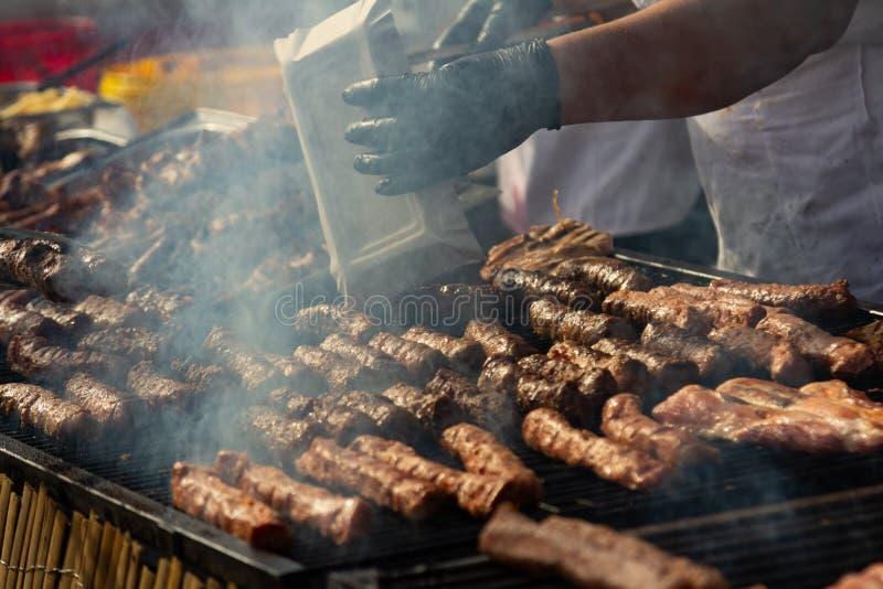Festival Alba Iulia de la comida de la calle imagenes de archivo