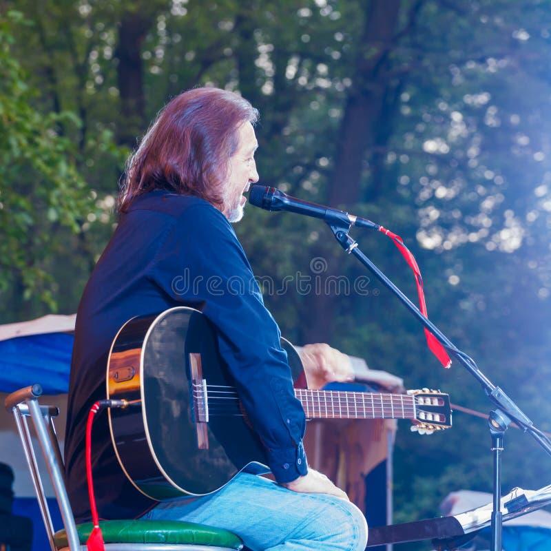 Festival alle-Rusland van het auteurs` s lied na Valery Grushin wordt genoemd dat stock afbeelding