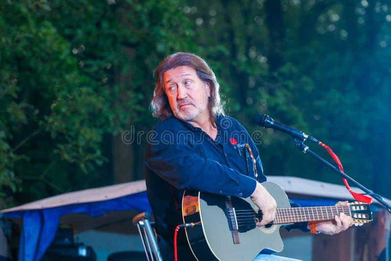 Festival alle-Rusland van het auteurs` s lied na Valery Grushin wordt genoemd dat stock fotografie
