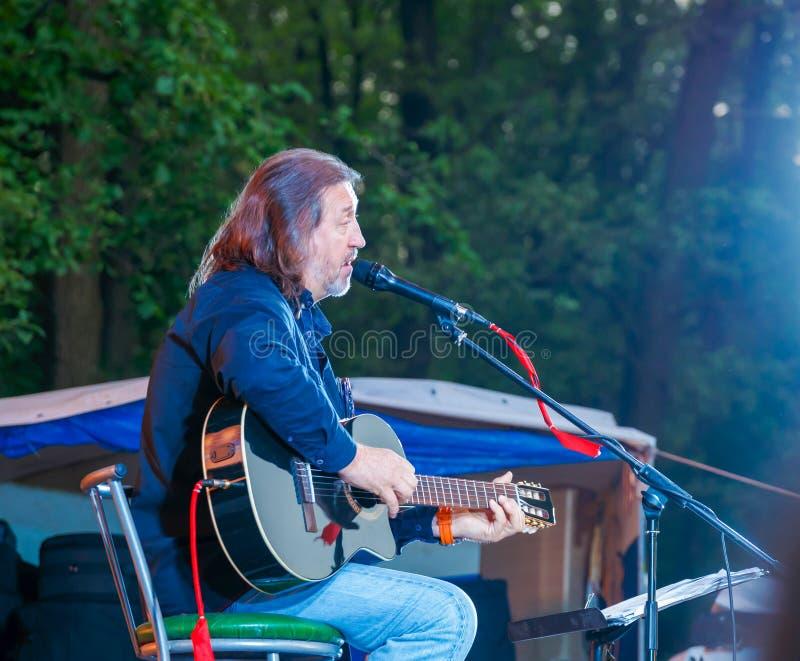 Festival alle-Rusland van het auteurs` s lied na Valery Grushin wordt genoemd dat stock afbeeldingen