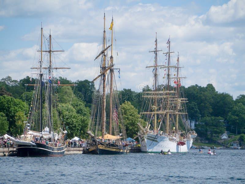 Festival alto 4 dos navios de Brockville fotos de stock royalty free