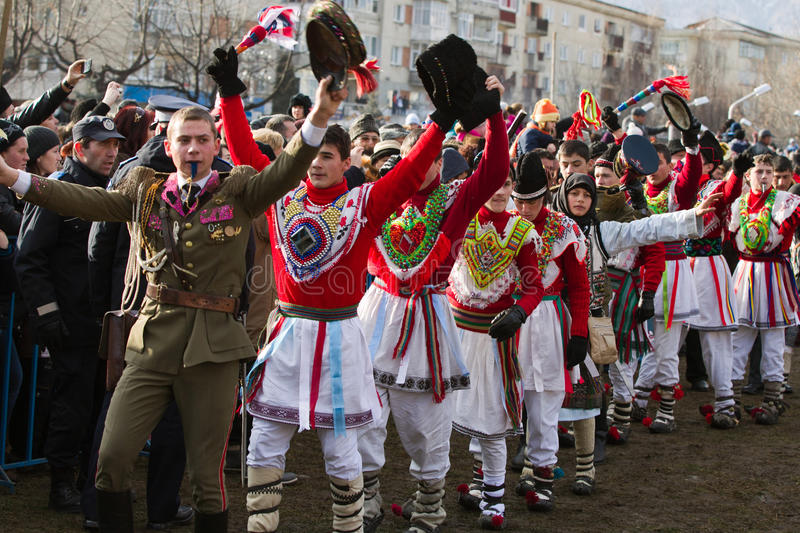 Download Festival Ancestral Customs And Traditions Editorial Stock Image - Image of bacau, blue: 22630384