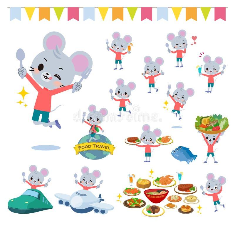 Festival animal de boy_food de souris illustration stock
