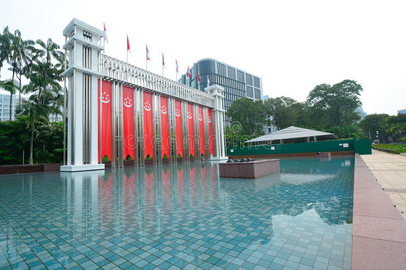 Festival arch , Singaapore. Festival arch that is located in front of the main entrance of the Istana Park stock photos