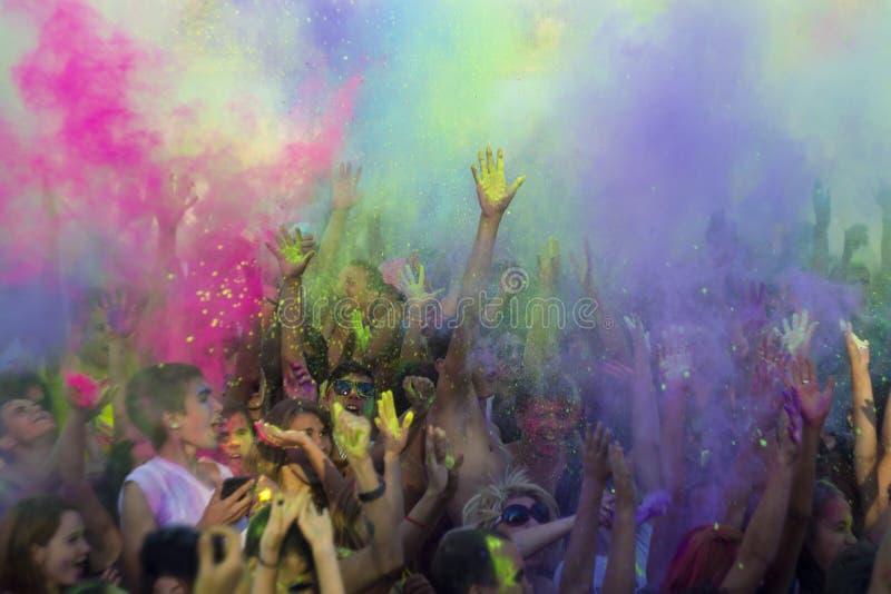 Festival av färger Holi royaltyfria bilder