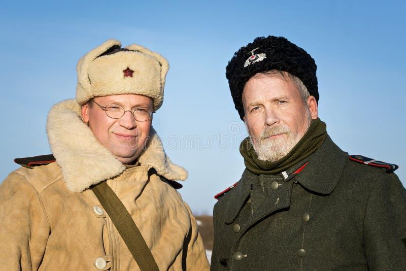 Festival av militär historia av Ryssland av XX århundradet Samararegion, Togliatti, 5 Januari 2018 arkivbild