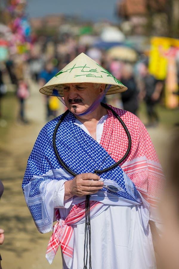 Festival búlgaro Varvara do folclore e do disfarce fotos de stock