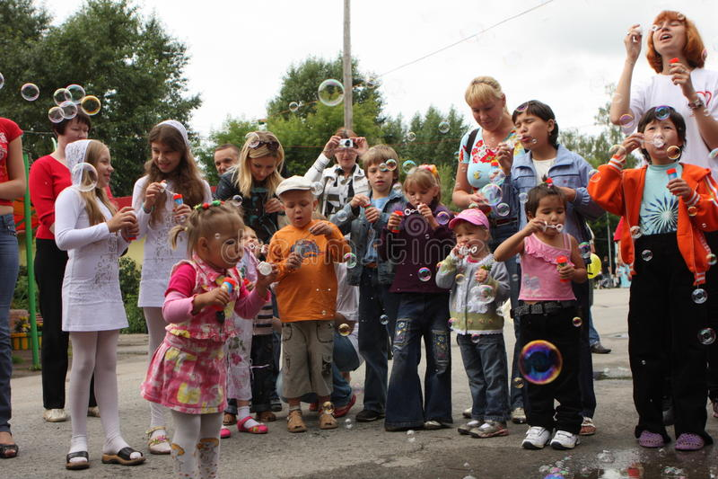 Festival Bubbles stock photography