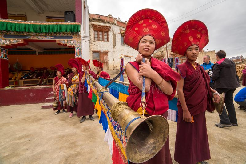 Festival budista de Yuru Kabgyat en Lamayuru Gompa, Ladakh imagen de archivo