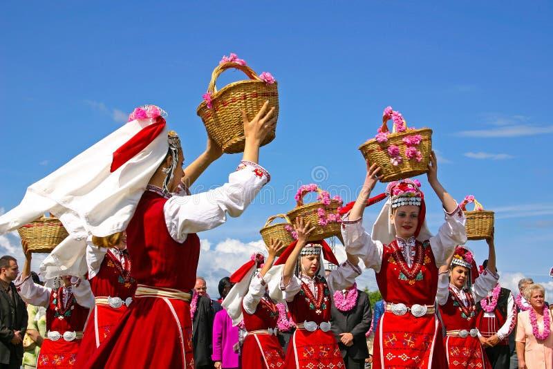 Festival bulgare de la rose image libre de droits
