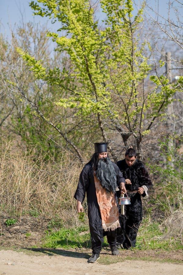 Festival bulgare Varvara de folklore et de mascarade images libres de droits