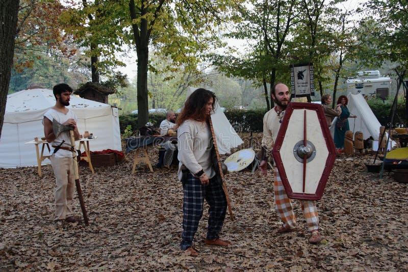 Festival celtique 2017 de Motta - reconstitution historique photographie stock