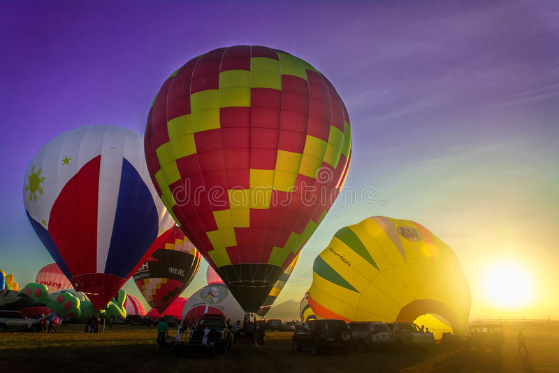 Festival chaud de ballon à air image stock