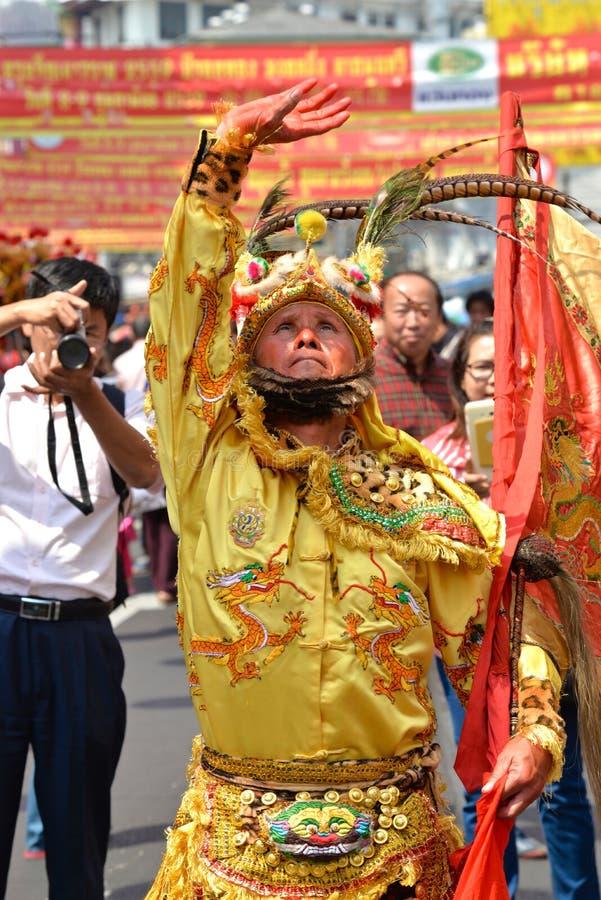 Festival cinese 2016, Bangkok, Tailandia del nuovo anno immagini stock libere da diritti