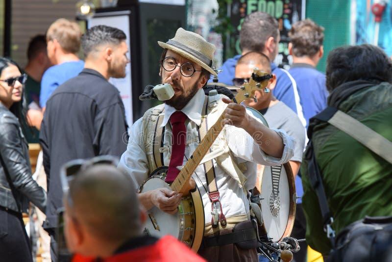 Festival Cluj-Napoca 2019, Rumänien för gatamatfestival arkivfoton
