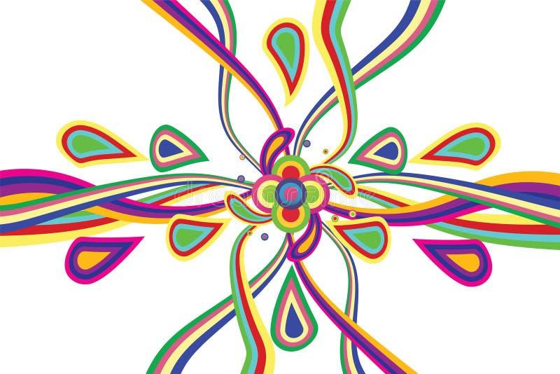 Festival colorido do conceito do fundo da tira ilustração royalty free