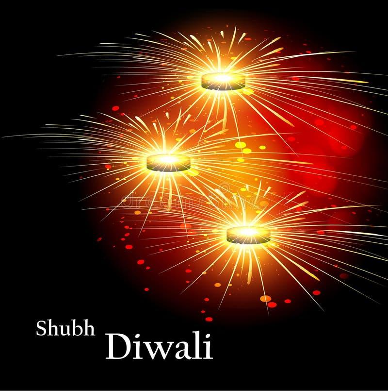 Festival colorido do fundo da celebração bonita feliz do diwali ilustração do vetor