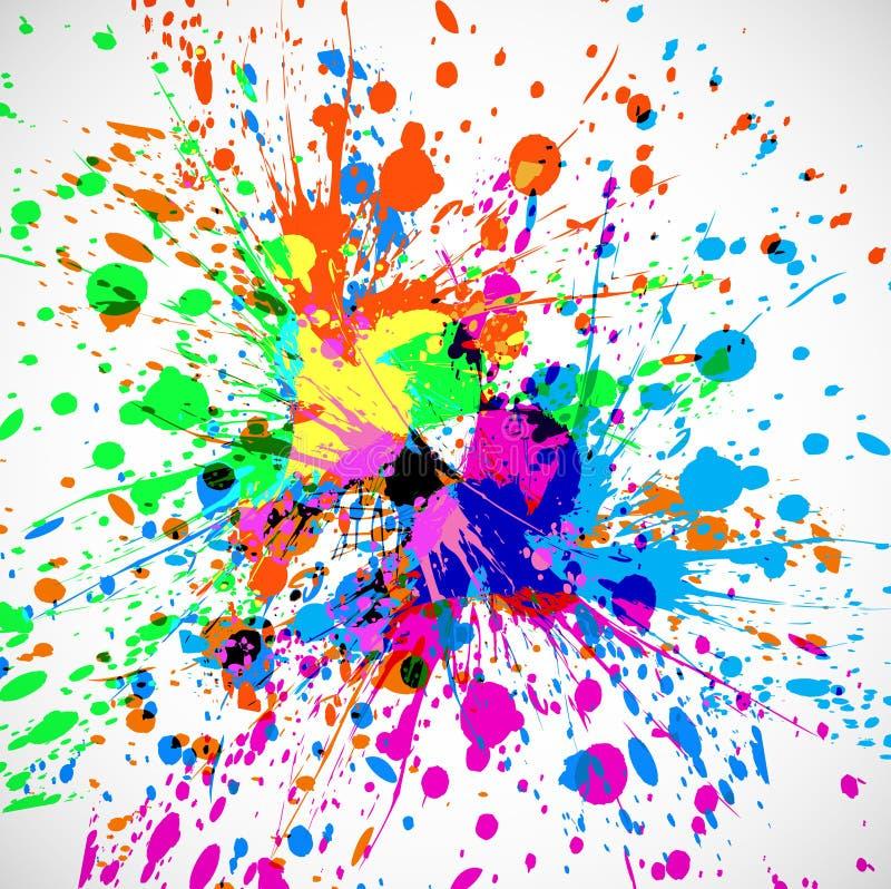 Festival colorido do indiano do respingo do grunge bonito ilustração royalty free