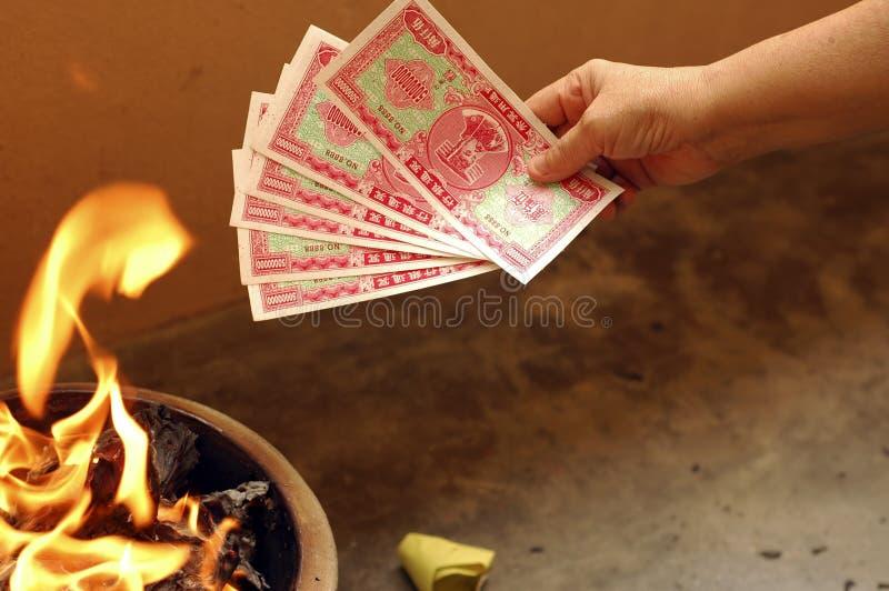 Festival com fome do chinês do fantasma imagem de stock