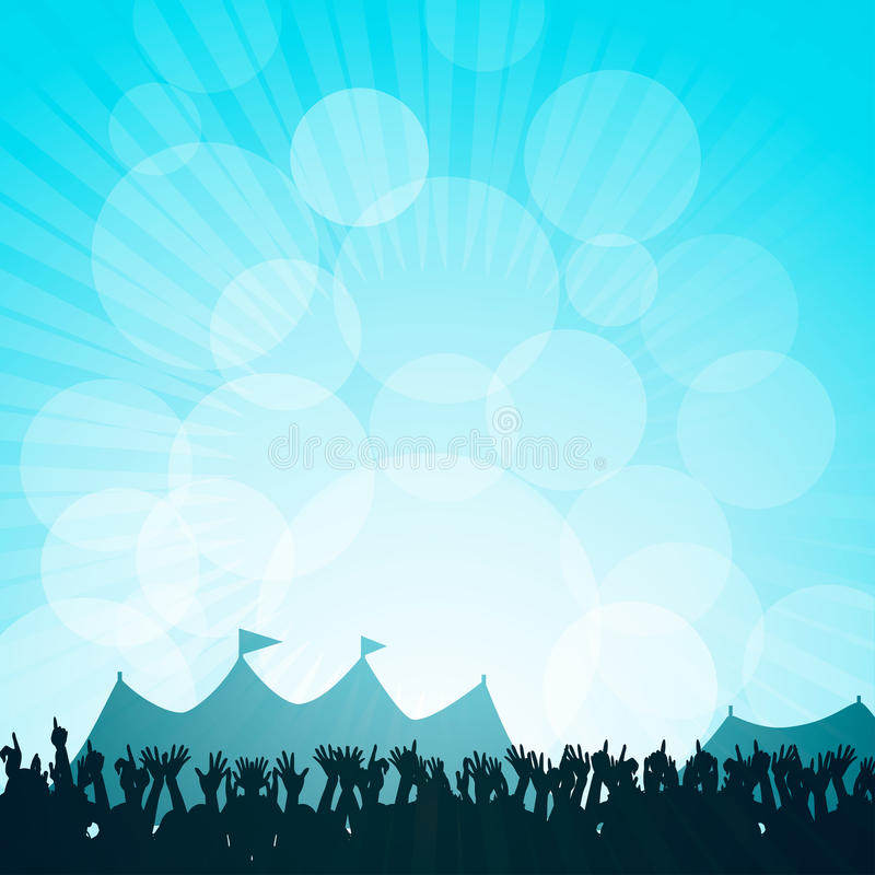 Festival and crowd vector illustration
