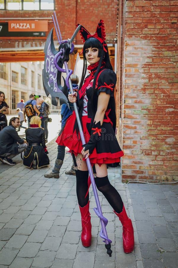Festival cultura Pop moderno ENGODO Ucrânia do 22 de setembro de 2018 CÔMICO Kiev, Ucrânia, fotografia de stock