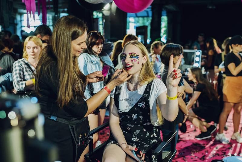 Festival cultura Pop moderno ESTAFA Ucrania del 22 de septiembre de 2018 CÓMICO Kiev, Ucrania, fotos de archivo libres de regalías