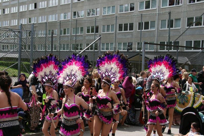 Festival culturale annuale in Hammarkullen, Gothenburg, Svezia fotografie stock libere da diritti