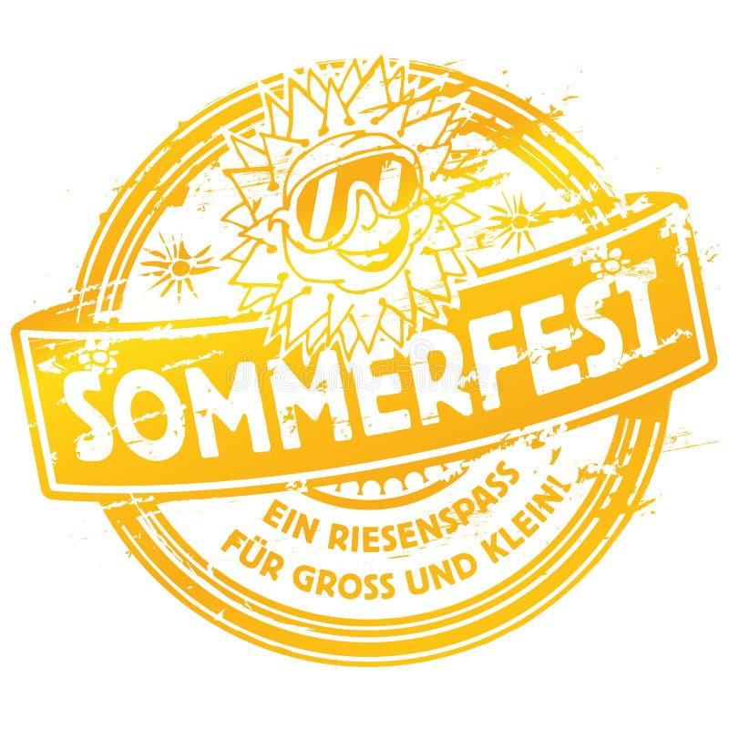 Download Festival D'été De Tampon En Caoutchouc Avec Le Soleil Illustration de Vecteur - Illustration du graphisme, compétence: 77157319